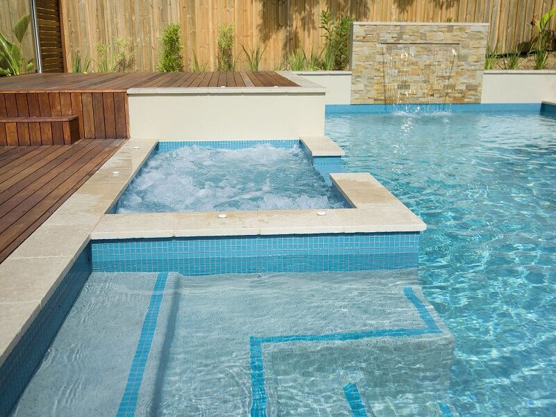 Brisbane home swimming pool constructed by Cityscapes