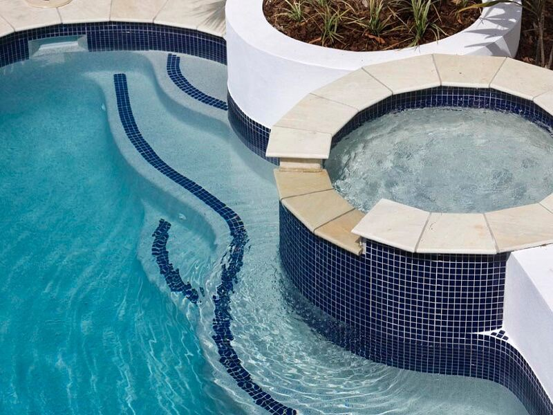 Concrete pool and spa on the Gold Coast