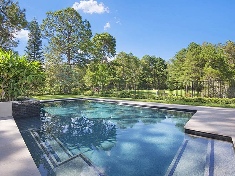 Concrete pool on large property on Pullenvale