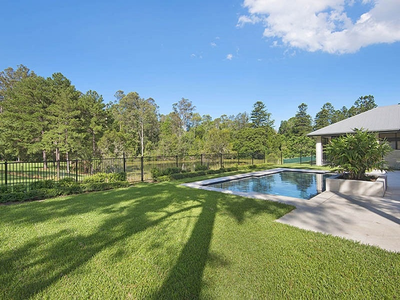 Concrete pool with new turf in Pullenvale, Brisbane