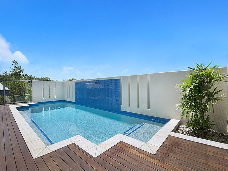 Concrete pool with water feature in Alderley, Brisbane