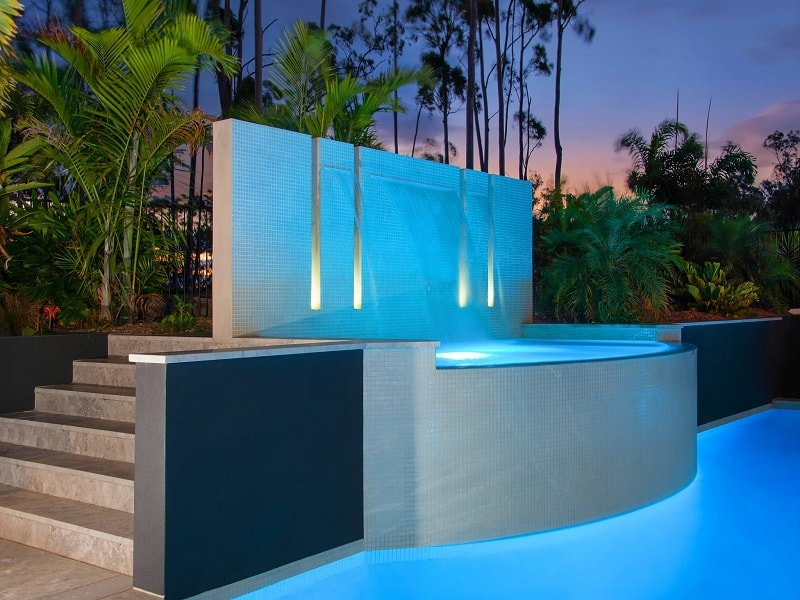 Custom design concrete pool in Bunya, Brisbane