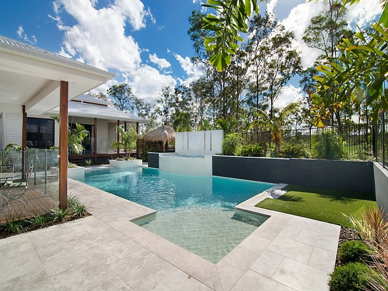 Custom design pool and landscape in Bunya, Brisbane