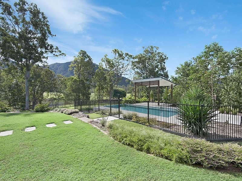 In ground pool and landscape design in Highvale, Brisbane