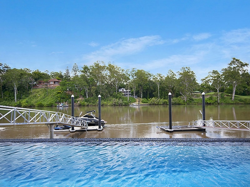 Pool overlooking Brisbane River in Chelmer. Brisbane