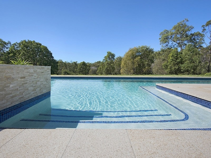 Lap pool entrance designed by Cityscapes Pools