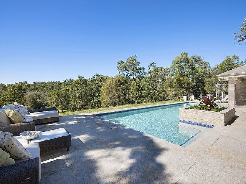 Lap pool and landscaping project by Cityscapes