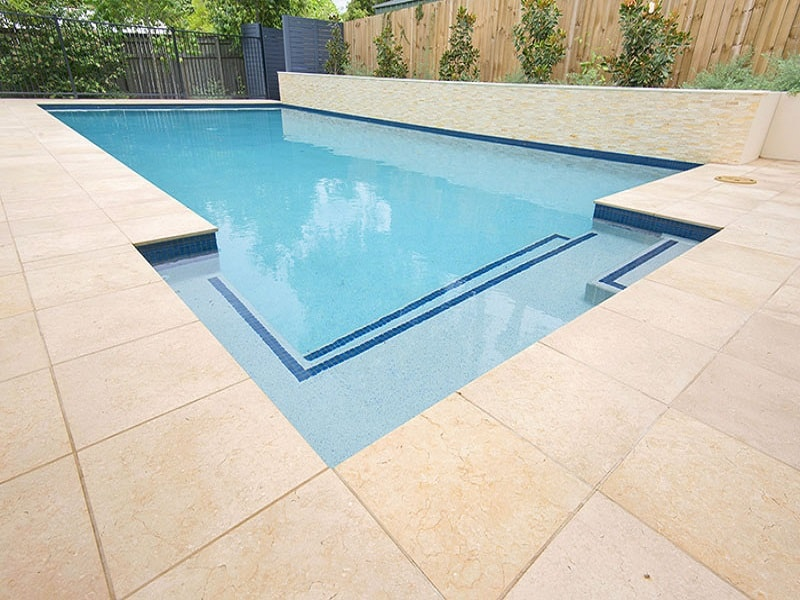 New pool build with concrete tiles in Wilston