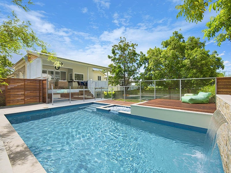 Plunge pool next to residential home by the Grange, Brisbane