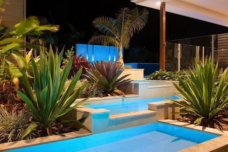 Custom designed pool lighting