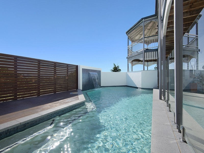 Swimming pool built by Cityscapes in Corinda, Brisbane
