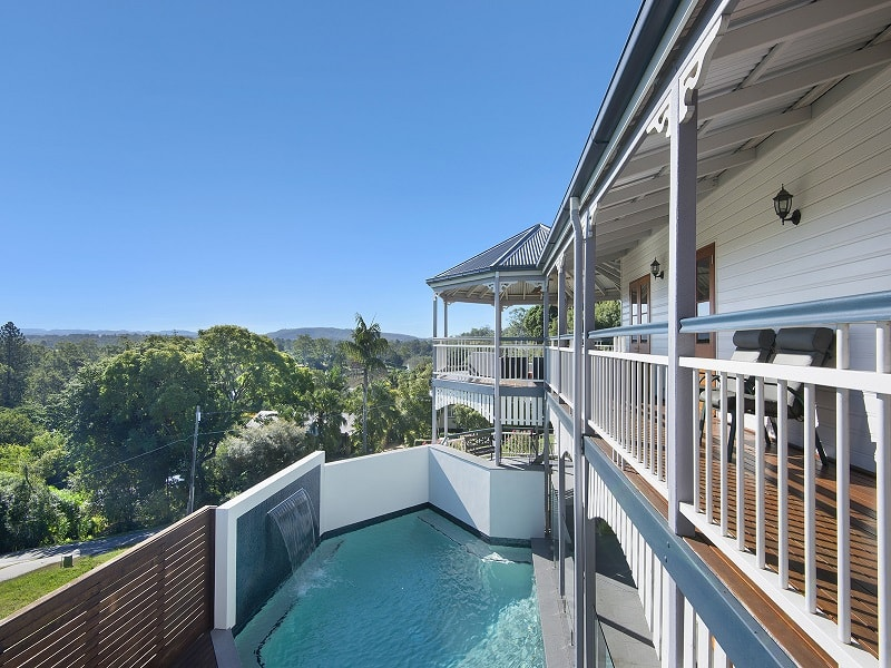 Swimming Pool and deck above in Corinda, Brisbane