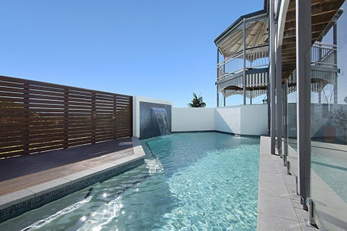 Pool and Queenslander home