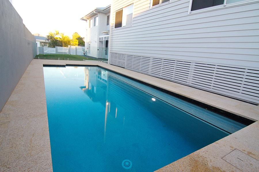 Backyard concrete pool build East Brisbane