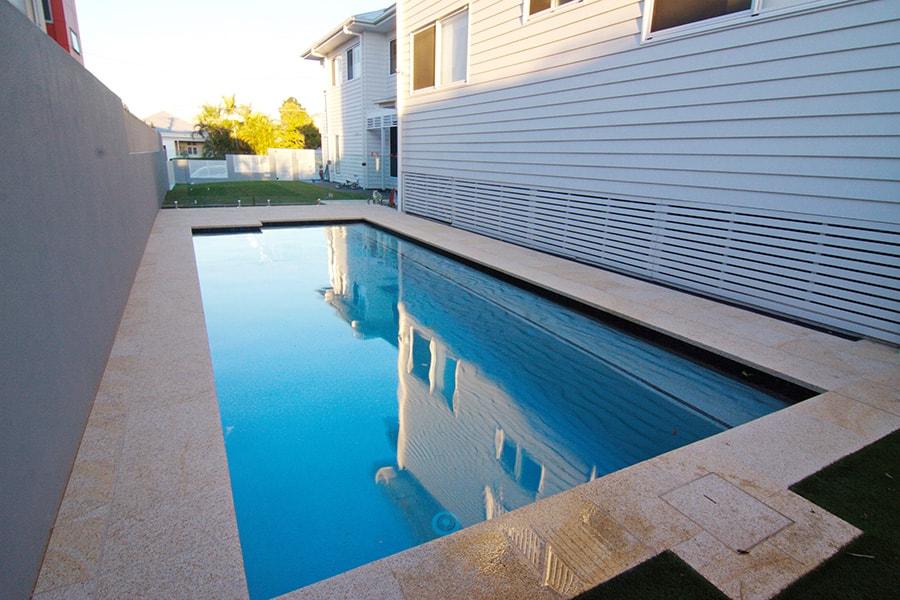 Backyard swimming pool East Brisbane