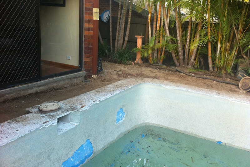 Before pool renovation in The Gap, Brisbane
