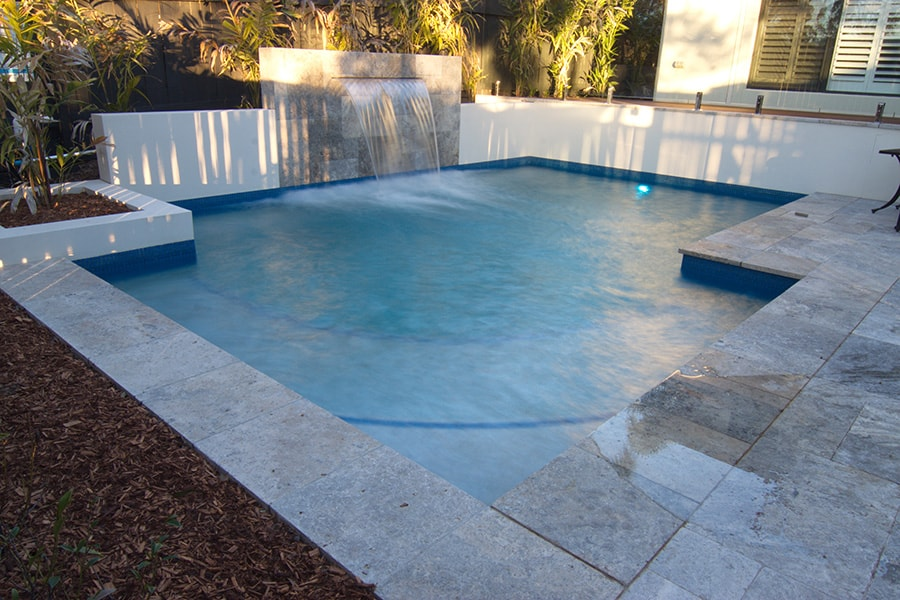 Concrete pool installation by Cityscapes Pools and Landscapes