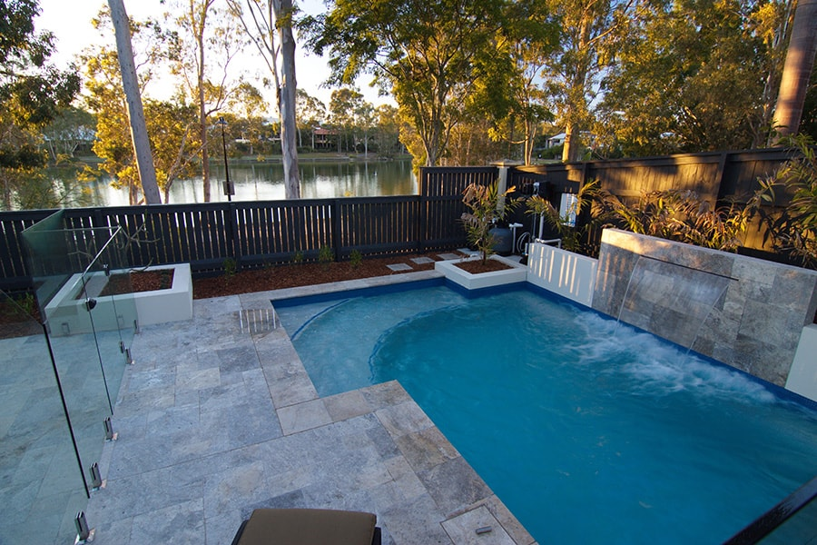 Concrete pool project in Forest Lake