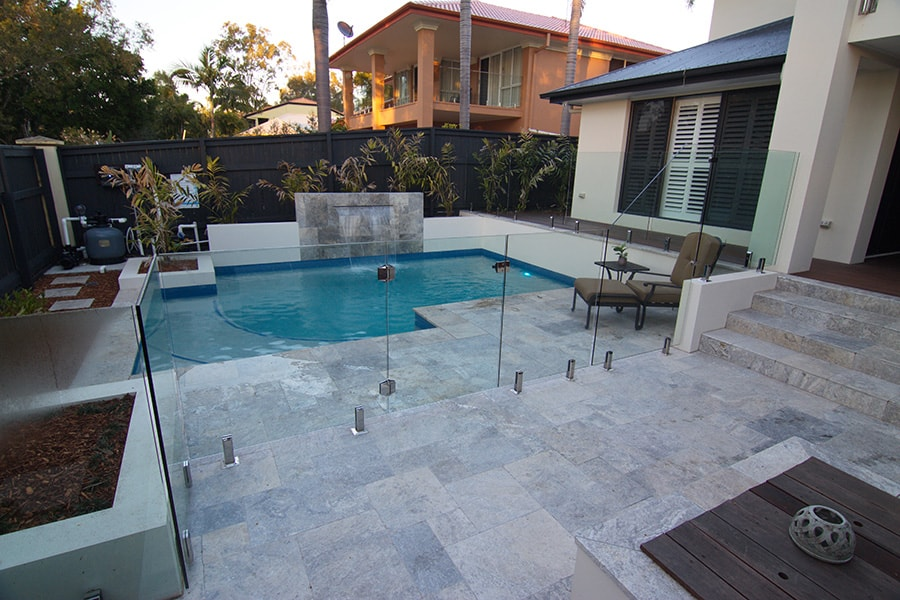 Concrete pool and surrounds