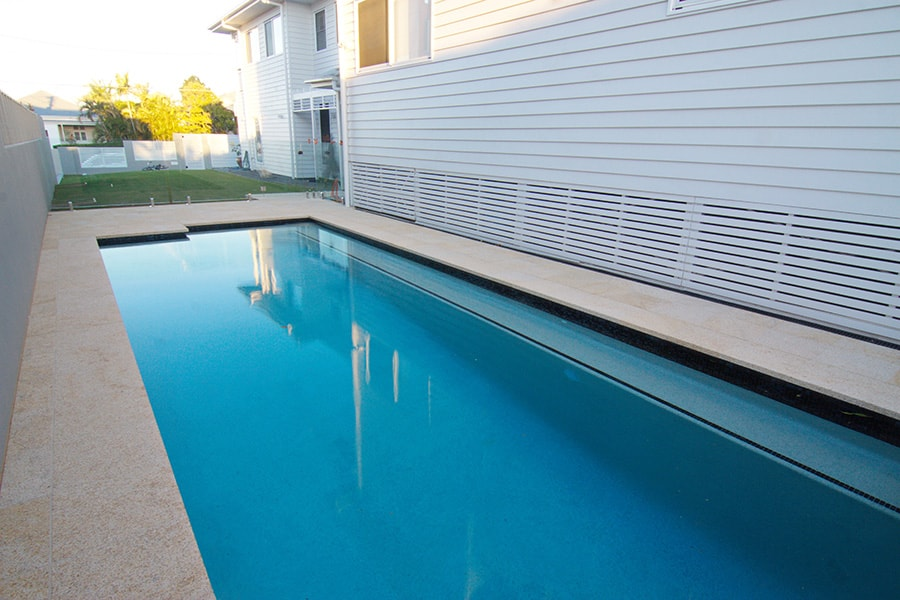 Concrete swimming pool residential East Brisbane