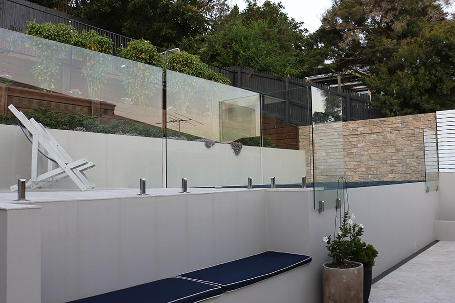 Custom concrete pool fencing in Balmoral