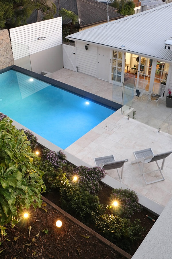 Custom concrete pool installation in Balmoral, Brisbane