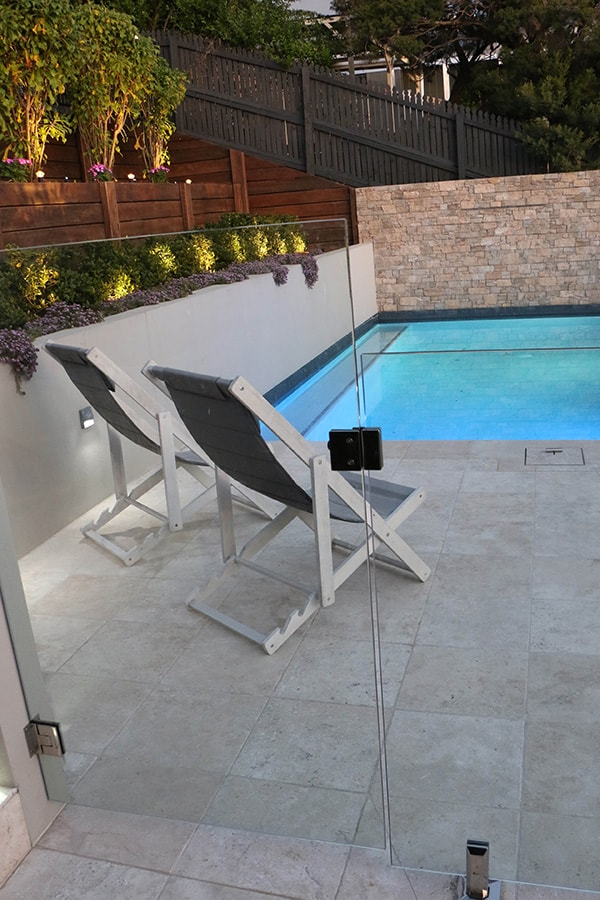 Custom concrete pool with fence in Balmoral, Brisbane