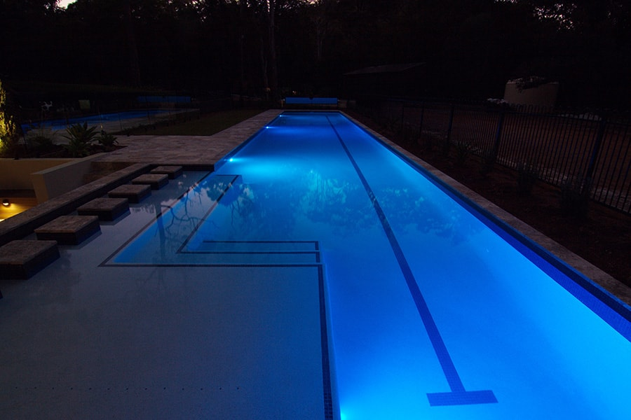 Lap pool designed and built by Cityscapes Pools