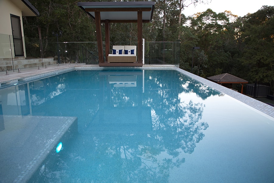 Out of ground concrete pool installation in The Gap, Brisbane