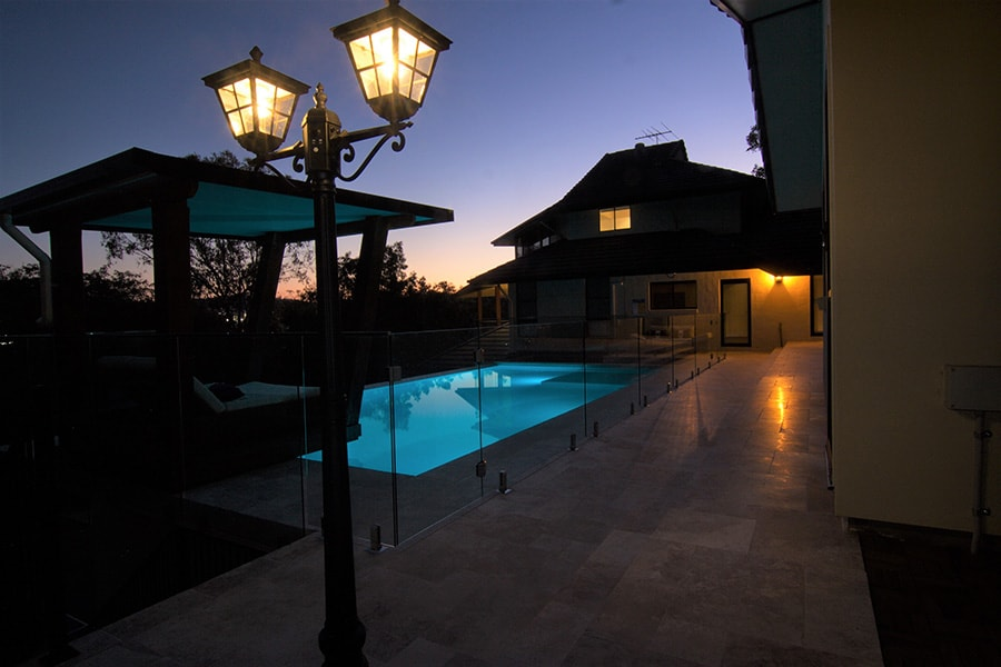 Out of ground pool night lights