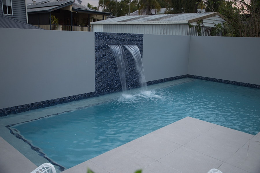 Plunge pool with concrete tiles built by Cityscapes Pools and Landscapes