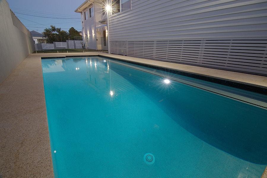 Swimming pool night lights East Brisbane